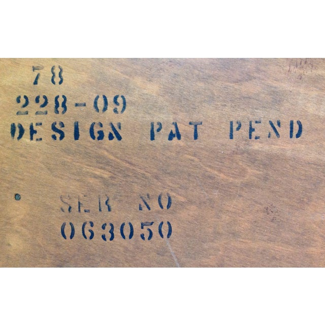 "Lane ""Tuxedo"" Mid-Century 1963 Walnut Dresser For Sale - Image 7 of 8"
