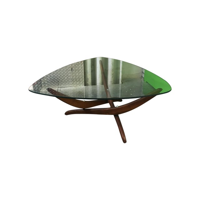 Pearsall Style Sculptural Walnut Wood Coffee Table - Image 1 of 5