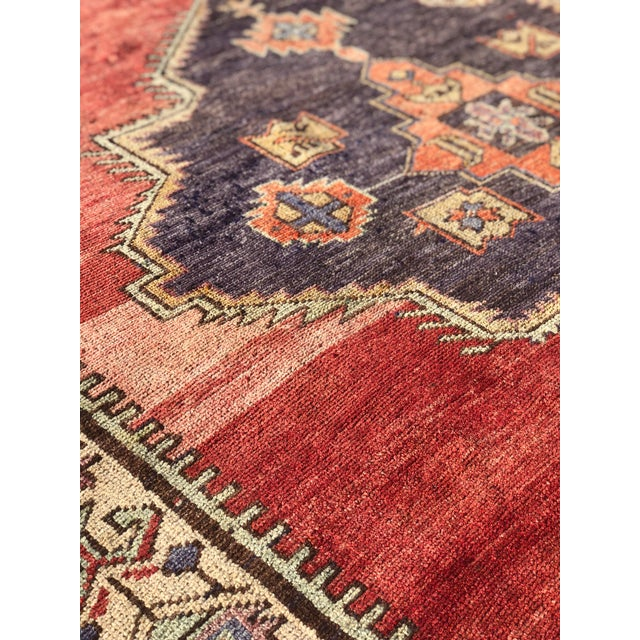 "Antique Turkish Oushak Runner - 5'1"" x 11'5"" - Image 7 of 12"