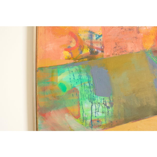 1970s Abstract Expressionist Painting, Framed For Sale - Image 4 of 6