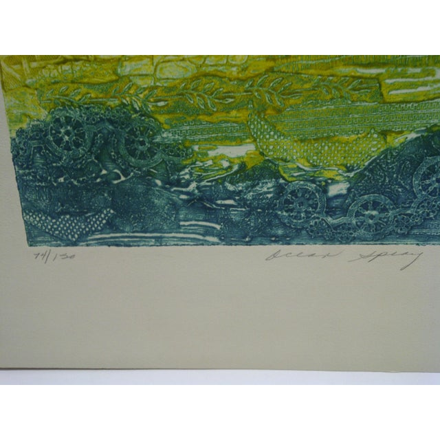 "Expressionism 1972 Issacs ""Ocean Spray"" Print For Sale - Image 3 of 5"