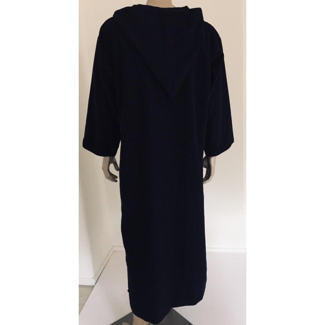 Textile Moroccan Gentleman Hooded Blue Wool Djellaba For Sale - Image 7 of 13