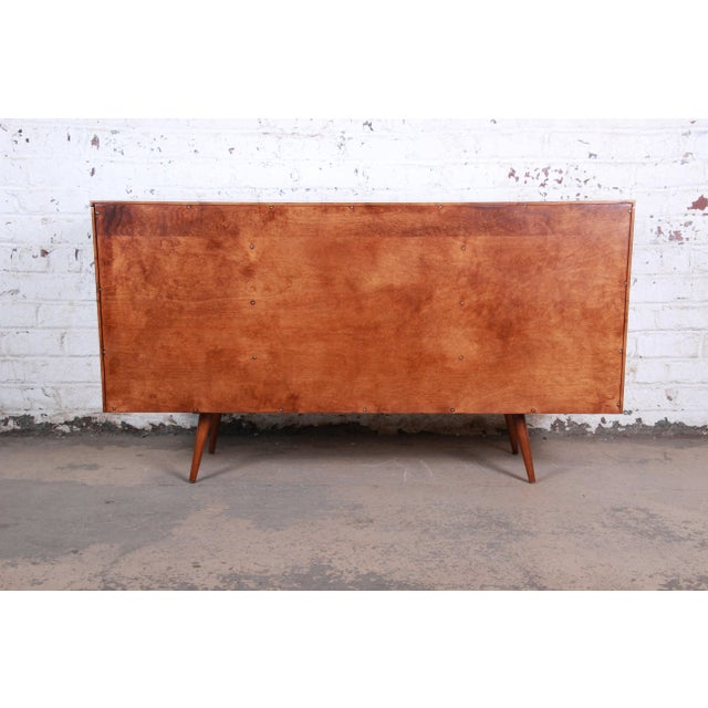 Paul McCobb Planner Group Mid-Century Modern Long Dresser or Credenza, Newly Restored For Sale - Image 11 of 13