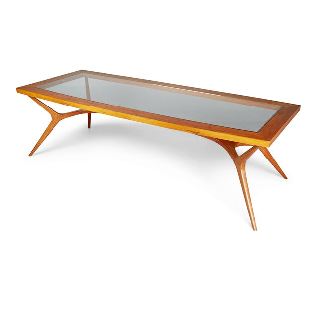 1950s 1950s Vintage Giuseppe Scapinelli Brazilian Sculptural Dining Table For Sale - Image 5 of 11