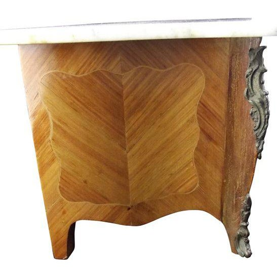 Early 20th Century Miniature Louis XIV Marble-Top Commode For Sale - Image 5 of 7