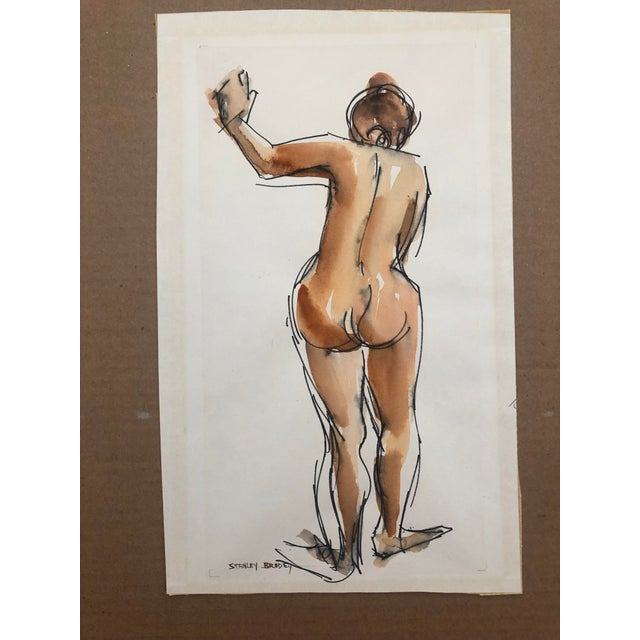 Stanley Brodey (1920-2002) Female Nude from the Rear, signed lower left