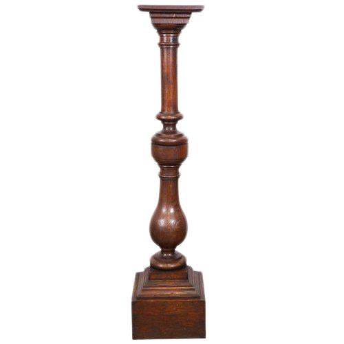 English Oak Pedestal, 19th Century For Sale