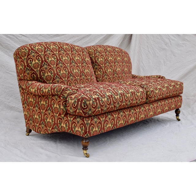 Late 20th Century Brunschwig & Fils English Sherwood Sofa on Casters For Sale - Image 5 of 10