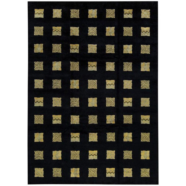 "Contemporary Hand Made Rug - 8'7"" x 11'9"" For Sale"