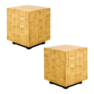 Pair of Hand Lacquered Cubes by Allesandro for Baker For Sale