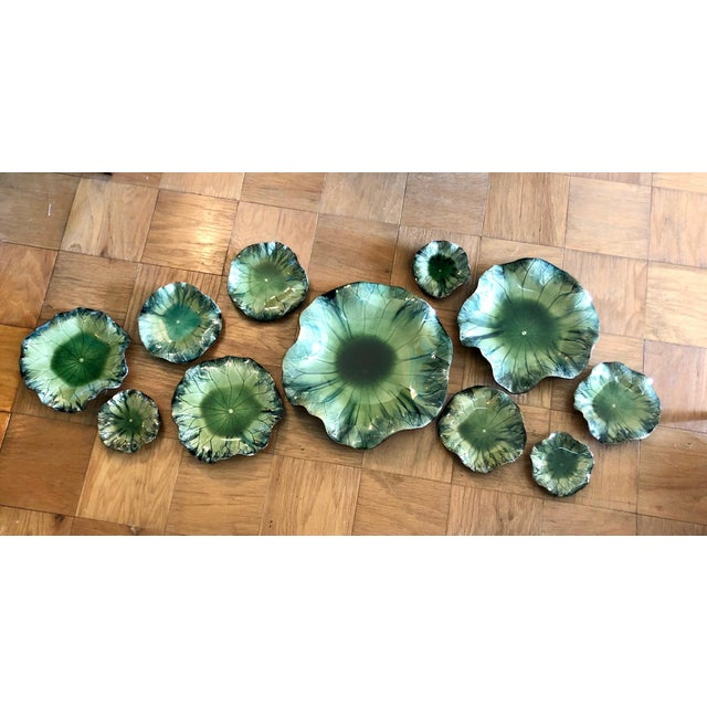 2010s Global Views Lily Pad Wall Sculpture, 11 Pcs. For Sale - Image 5 of 5
