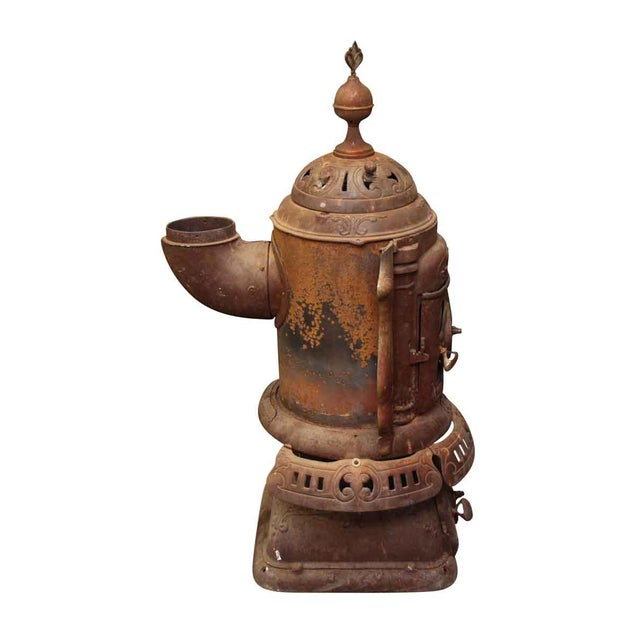 Brown Antique Oak Bengal Stove For Sale - Image 8 of 13