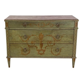 Painted Italian Chest of Drawers Circa 19th Century For Sale