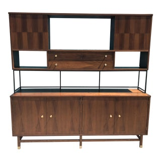 Mid Century Stanley Two Piece Wall Unit
