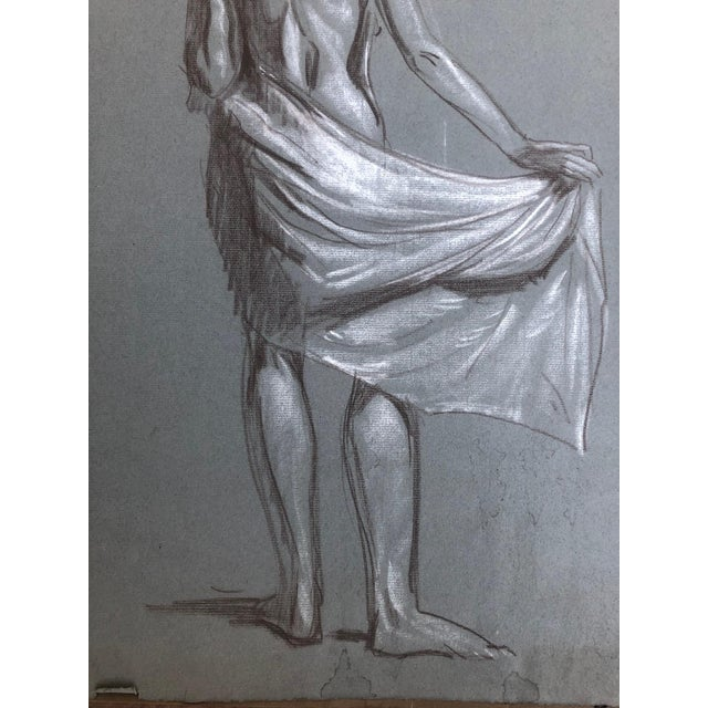 1920s 1920s American Modernist Nude Drawings by Kenneth Hartwell - a Pair For Sale - Image 5 of 6