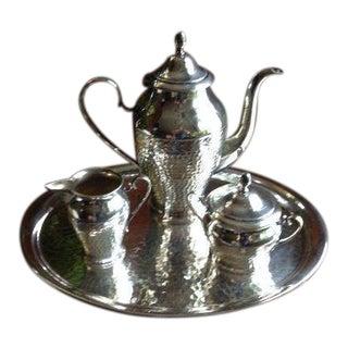 1960s Art Nouveau Gustav Eriksson Silverplate Tea Set - 4 Pieces