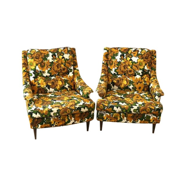 1950s Selig Chairs, Upholstered Seats - A Pair - Image 1 of 6