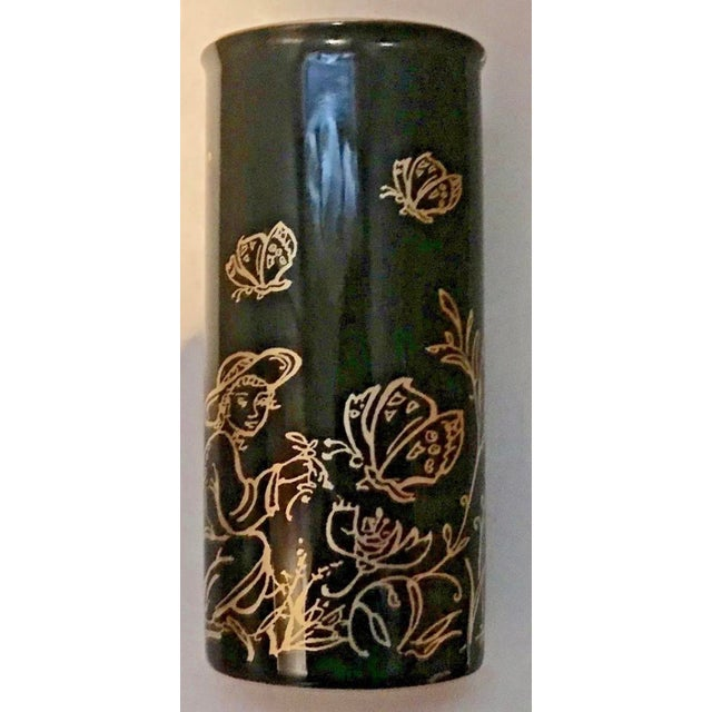 "Edna Hibel Rosenthal ""Festival Annual"" Golden Vase For Sale - Image 9 of 13"