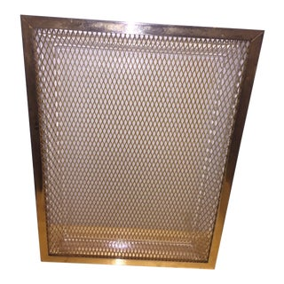 Vintage Mid-Century Modern Brass Tray For Sale