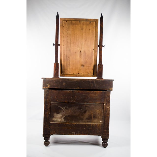 Late 19th Century Antique American Empire Mahogany Vanity Dresser For Sale - Image 12 of 13