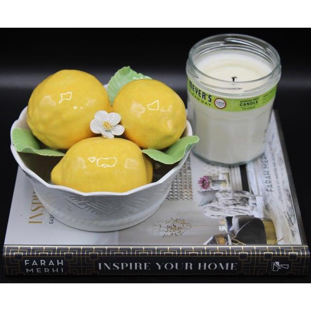 Italian Italian Ceramic Round Lemon Basket For Sale - Image 3 of 11