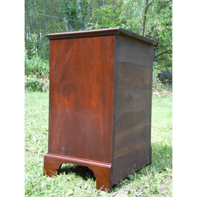 Antique Robert Treate Hogg Custom Solid Mahogany Chest of Drawers Petite Dresser - Image 11 of 11