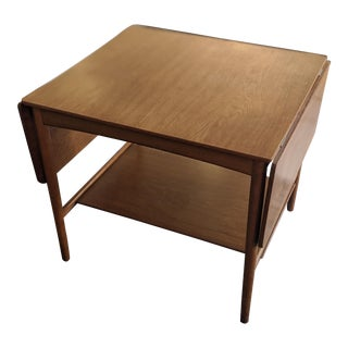 1960s Danish Modern Hans Wegner for Andrea Extended Drop Leaf Coffee Table For Sale