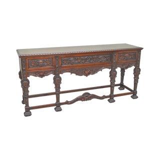 Renaissance Revival Style Antique Carved Walnut Sideboard