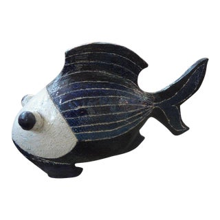 Mid-Century Studio Art Pottery Fish Sculpture For Sale