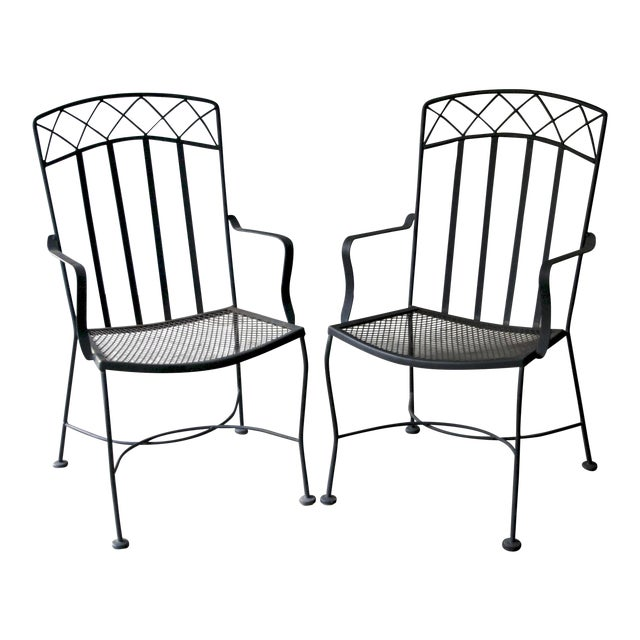 Salterini Style Patio Chairs, a Pair For Sale