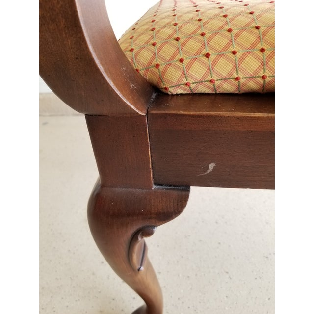 Cherry Wood Vintage Ethan Allen Georgian Cherry Corner Chair For Sale - Image 7 of 11