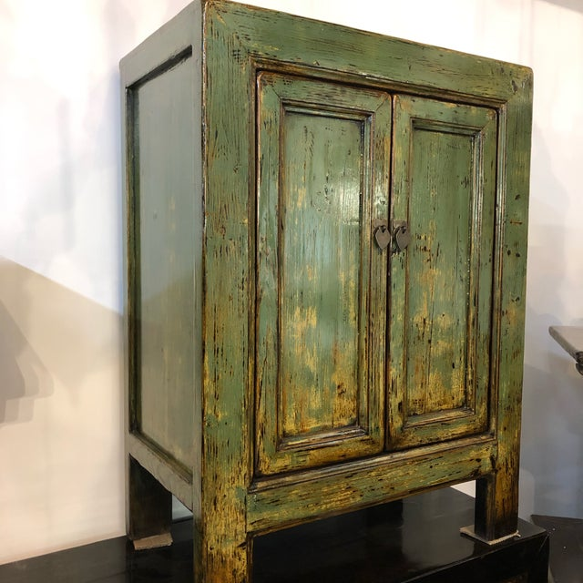 """Vintage Chinese lacquered elm cabinet, c. 1920-50, from Shandong province 32"""" x 18"""" x 42""""h"""