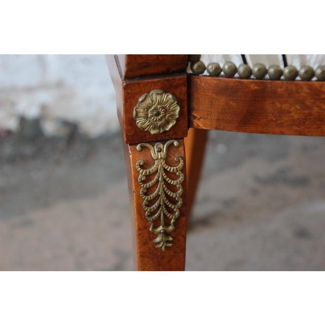 Metal Antique Petite Biedermeier Style Armchair For Sale - Image 7 of 9