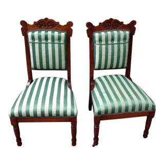 1890 Theater Starlet Solid Cherry Red Chairs - A Pair