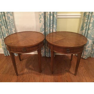 1970s Traditional Henredon Round Side Tables - a Pair Preview