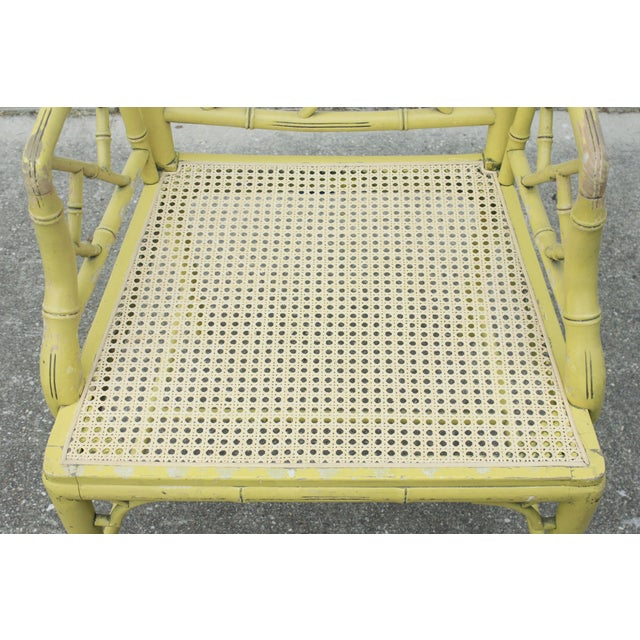 Chippendale Faux-Bamboo Fretwork Armchair - Image 4 of 8
