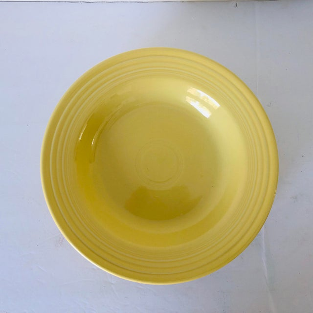 Modern Fiesta Ware Yellow Soup Bowls S-4 For Sale - Image 3 of 6