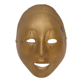 Vintage Brass Clown Mask