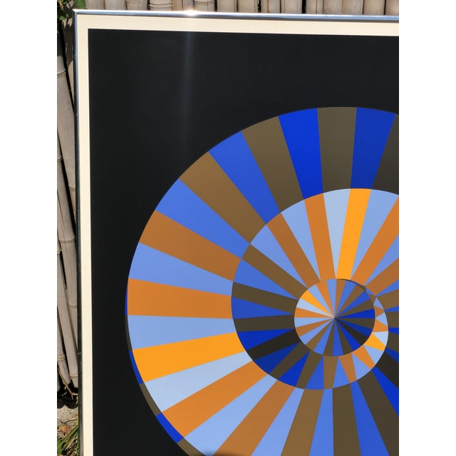 Op Art 1972 Vintage Victor Vasarely Limited Edition Official Munich Olympic Serigraph Poster For Sale - Image 3 of 9