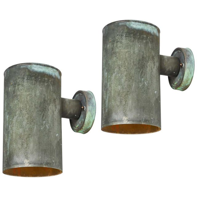 1950s Hans-Agne Jakobsson Cylindrical Outdoor Sconces - a Pair For Sale - Image 10 of 10