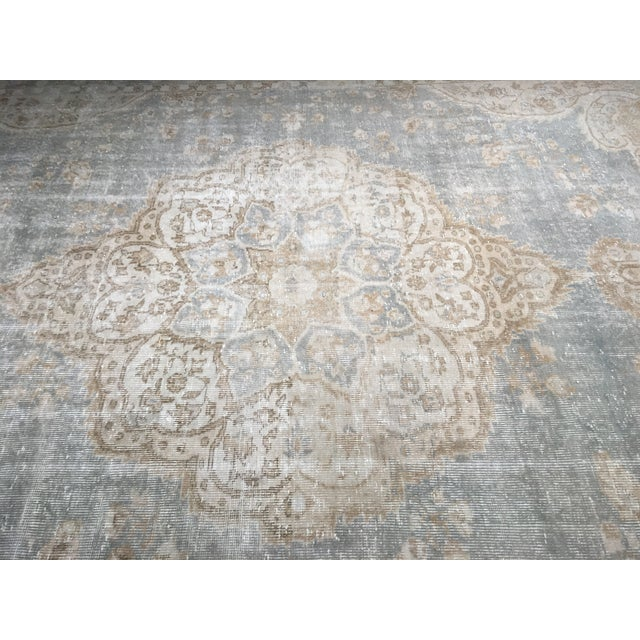 "Distressed Turkish Oushak Rug - 9'5"" X 12'8"" - Image 6 of 9"