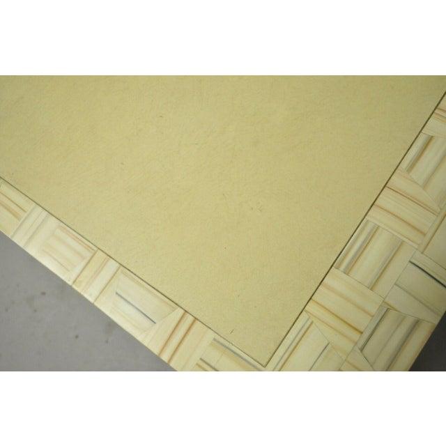 Wood Allesandro Baker Karl Springer Style Cream Console Table For Sale - Image 7 of 13
