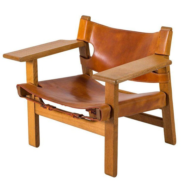 "Brutalist Børge Mogensen ""Spanish"" Chair For Sale - Image 3 of 10"