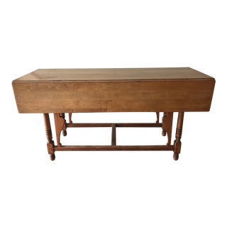 Vintage Drop Leaf Console Sofa Table For Sale
