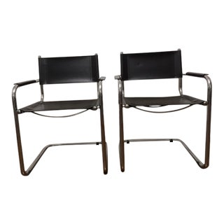 Italian Leather Chairs - a Pair