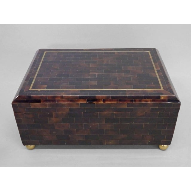 Mid 20th Century Karl Springer Style Tessellated Horn Box by Maitland Smith For Sale - Image 5 of 5