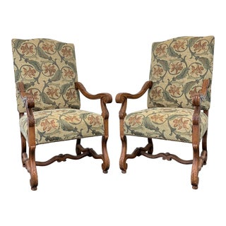 French Country Style Dining Captain's Armchairs by Fremarc Designs - Pair For Sale