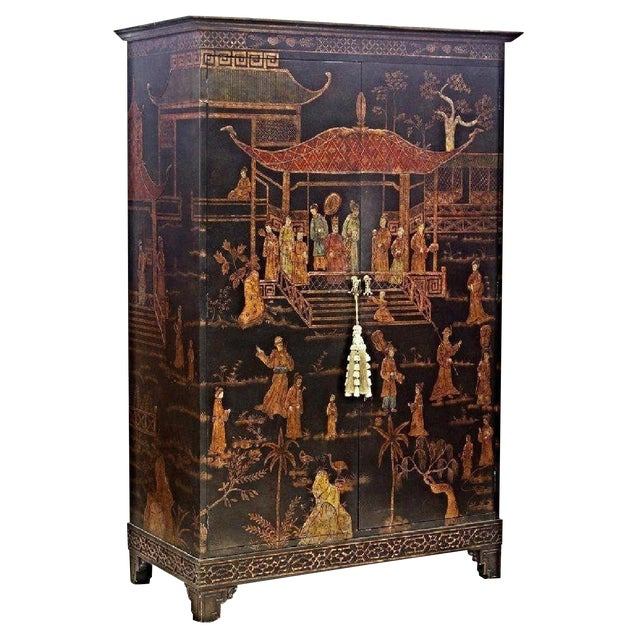 Vintage Asian Chinoiserie Cabinet - Image 1 of 9