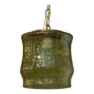 Mid-Century Italian Crackle Glass Pendant