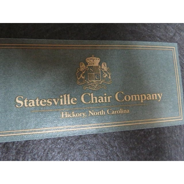Late 20th Century Late 20th Century Vintage Statesville Chair Co. Stripped Chippendale Style Side Chairs-a Pair For Sale - Image 5 of 7